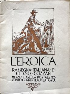 L'Eroica Issues no. 128 1929 of the collection Fondo Ettore Cozzani