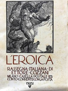 L'Eroica Issues no. 131 and 132 year 1929 of the Collection Fondo Ettore Cozzani