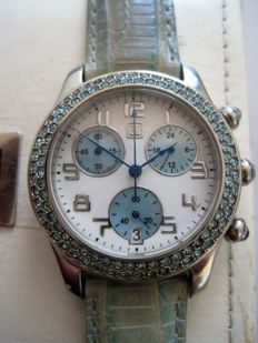 JL - women's chronograph - 32 mm diameter - date / 24 hour counter - around 1990 / 2000