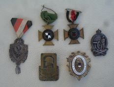 Lot with 6 medals and awards, Hohenzollern veterans federation, military Club Reutlingen / WW 1