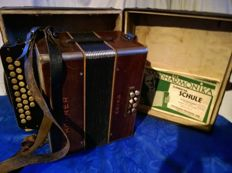 Accordion Hohner Erika - Concertina - button accordion - with case