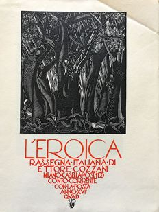 L'Eroica Issues no. 123 and 124 1928 of the collection Fondo Ettore Cozzani