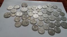 United Kingdom - 3 Pence up to and including ½ Crown 20th century (48 pieces) - silver