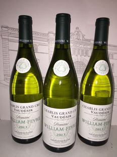2013 Chablis Grand Cru Vaudesir Domaine William Fevre - 3 bottles.