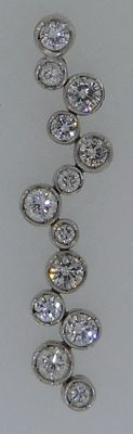 Handmade 18 kt white gold pendant set with brilliant cut diamonds 1.15 ct