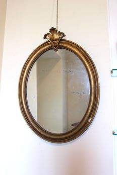 Gilded wall mirror - Louis Philippe style - France, 19th century