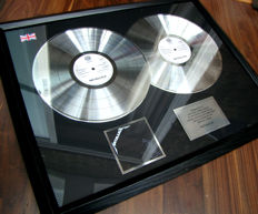 Metallica Platinum award 300,000 UK sales stunning award