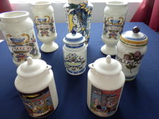 Collection of 8 pharmacists jars