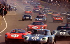 1964 le Mans 24 Hour Start  Ferrari  Colour Photograph