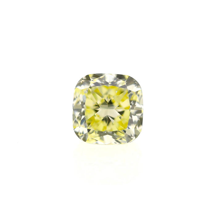Natural Fancy Light Yellow 1.51 ct Cushion VS2 Diamond, GIA Certified