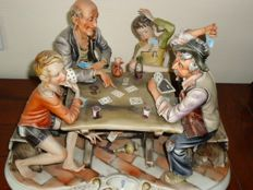 Capodimonte sculpture - Four card players