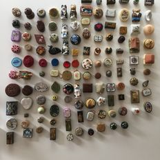 Collection of 125 different small boxes