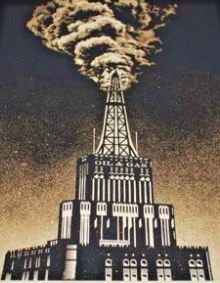 Shepard Fairey (Obey) - Oil and Gas Building, Industrial Power Art