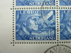 The Netherlands - Batch of sheetlets, among other Legion with plate flaw