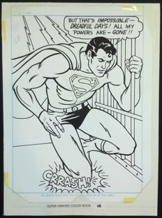DC Studio - original plate (p. 28) - Superman - Super Heroes Color Book