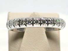 Antique diamond eternity ring total: 0,70 ct. - Ring size BE 51 // NL 16,25 mm