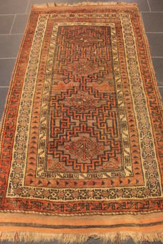 Antique hand-knotted Baluch, wool on wool, 110 x 200 cm, made in Iran