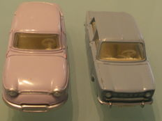 Dinky Toys-France - Scale 1/43 - Simca 1000 No.519 and Panhard PL 17 No.547