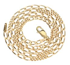14 kt Yellow gold curb link necklace  – 45.6 cm