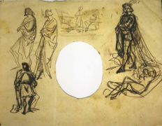 Mariano Fortuny y Marsal (1838 - 1874) - Sketch study for medieval characters