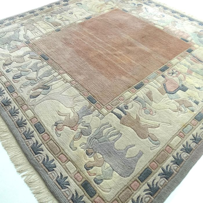 "Square Nepalese – 198 x 203 cm – ""Oriental carpet in beautiful, unused condition"""