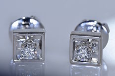 Solitaire Diamond earrings - No reserve price!