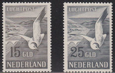 The Netherlands 1951 - Airmail, Seagull - NVPH LP12/13