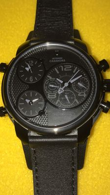 Detomaso Casabona - Men's wristwatch - Black - Multifunction