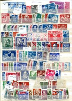 East Germany 1950/1989 - accumulation on stock cards.