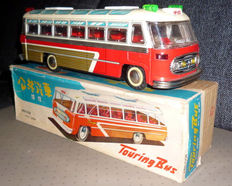 "STF, China - 37 cm - Tin ""Touring Bus"" MF812 with friction motor, 70s"