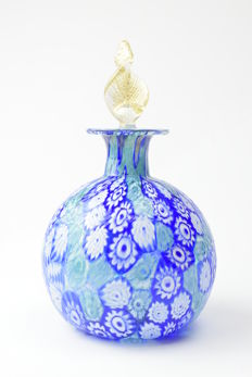Campanella Glassworks - Bottle with Murrine