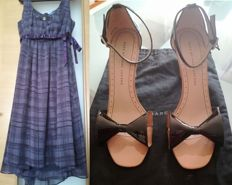 Set Marc Jacobs bow sandals and Vera Wang party dress