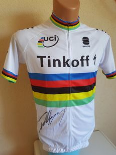 Peter Sagan - 2x World Champion Elite en 5x Green Jersey winner Tour de France - hand-signed jersey + COA