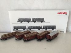 Märklin H0 - 46192 - Set of 5 freight carriages of the DB, with load of timber