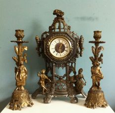 Iron clock set - Germany - approx. 148