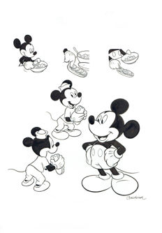 Cardona, Josep Maria - Original model sheet for children's book - Mickey Mouse - Tuna Sandwich Recipe - (1990's)