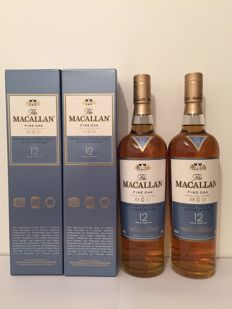 2 bottles - The Macallan 12 years Fine oak