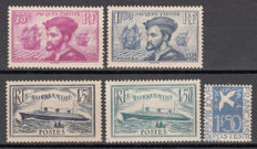France 1934 – set of series – Yvert No. 294 , 296 / 297 , 299 / 300