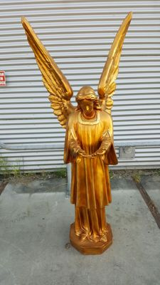 Beautiful statue of a standing angel