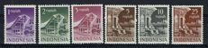 Indonesia 1950/1951 – Six high values from the RIS series – NVPH 20 through 25