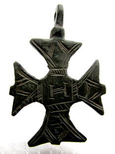 Crusaders Period Decorated Maltese cross pendant  - 36 mm