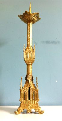 Gothic candlestick - France (Lille) - late 19th century