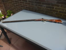 Double barrel Percussion Rifle with decorative work 19th century
