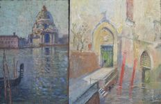 Unknown artist (20th century) - Two views of Venice