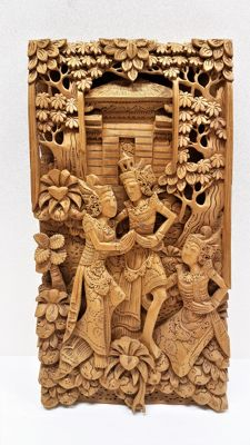 Panel with woodcarving – Bali – Indonesia