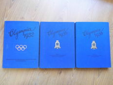 3 albums - Olympia 1936 anthologies 1 + 2 Berlin and Garmisch/Partenkirchen 1936 and 1932 Los Angeles Olympics