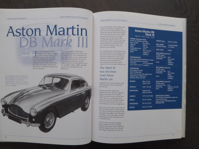 ASTON MARTIN GUIDE BOOK BUYERS ILLUSTRATED DB WOUDENBERG