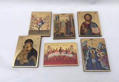 Lot of 6 different icons - Italy - Second half 20th century