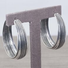 925/1000 Silver, Hoops, Length 45 mm