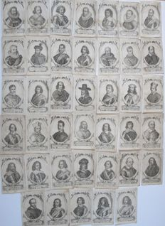 Lot with 40 portraits of 17th century governors, church leaders and heads of state - at the end of the 17th century (?)